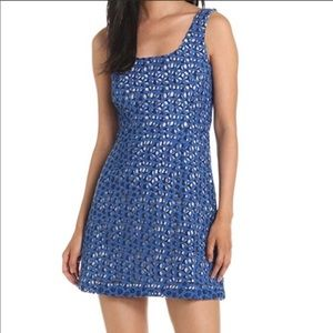 NWT French Connection blue crochet lace dress
